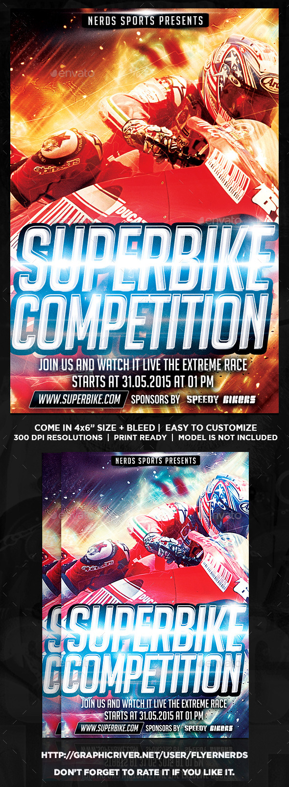 Superbike 2K15 Sports Flyer - Sports Events