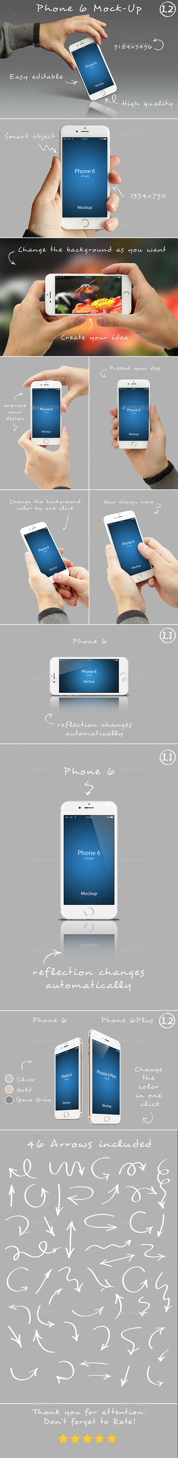 Phone 6 Mockups 1.2 - Mobile Displays