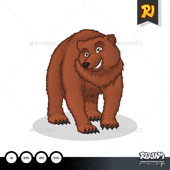 Brown Bear Cartoon - Animals Characters