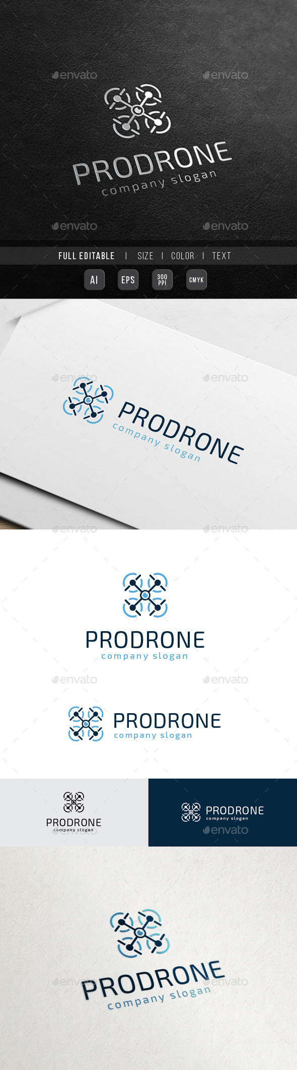 Pro Drone - Drone Camera - Objects Logo Templates