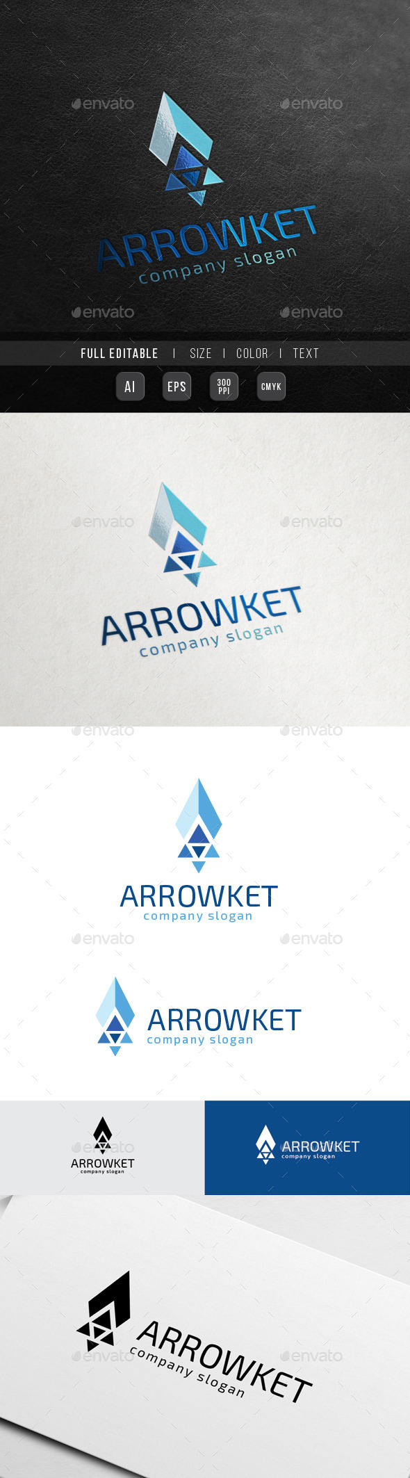 Arrow Rocket Launch - Startup Growth - Symbols Logo Templates