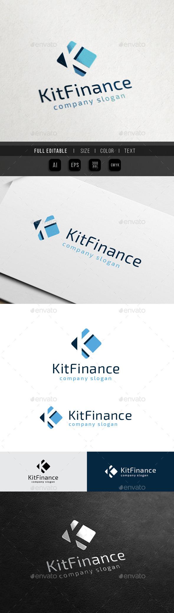 Finance Marketing - Letter K - Letters Logo Templates