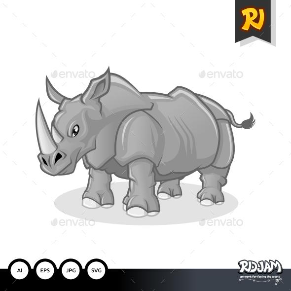 Rhinoceros Cartoon - Animals Characters