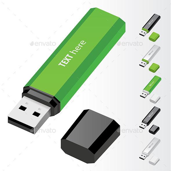 USB Flash Drive - Technology Conceptual