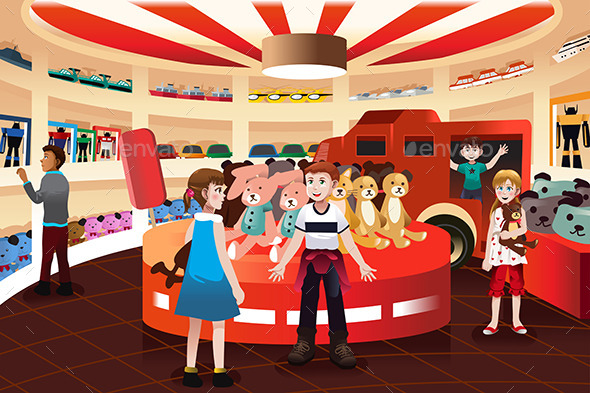 Kids in a Toy Store  - Commercial / Shopping Conceptual