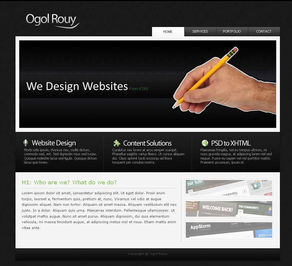 Free Download Ogol Rouy - Dark Business Layout Nulled Latest Version