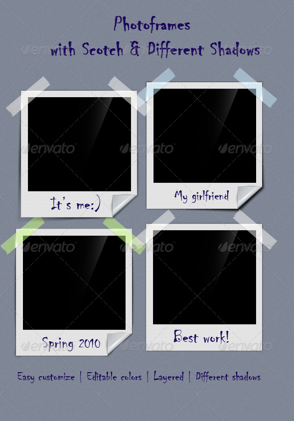 Photoframe With Scotch - Miscellaneous Graphics