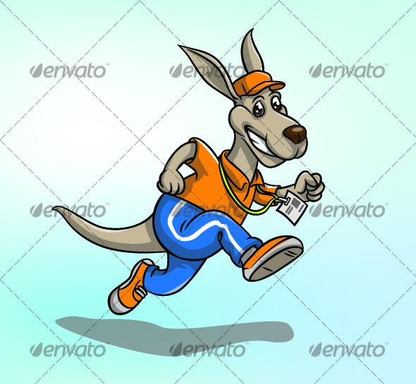 Running kangaroo - Animals Characters