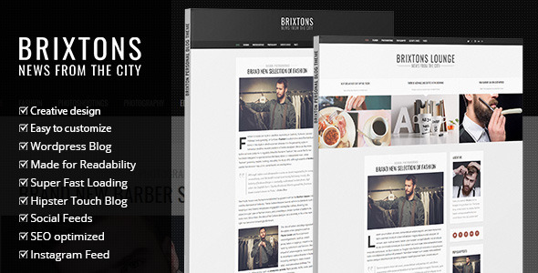 Brixton – Minimal & Personal WordPress Blog Theme