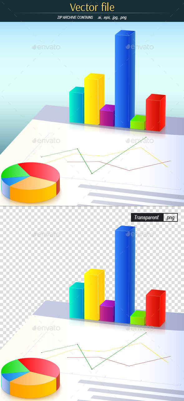 Colored Business Charts - Backgrounds Business