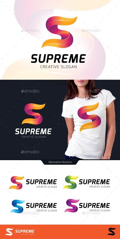 Supreme Letter S Logo - Letters Logo Templates