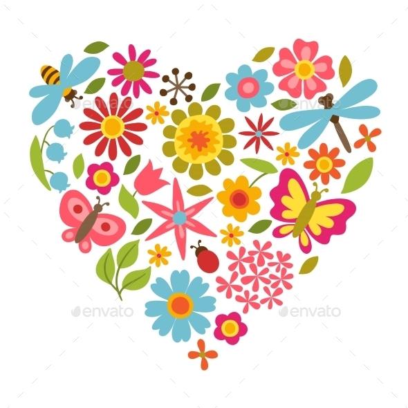 Flower Heart  - Flowers & Plants Nature
