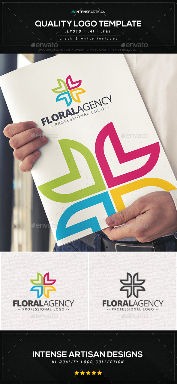 Floral Agency Logo Template - Nature Logo Templates