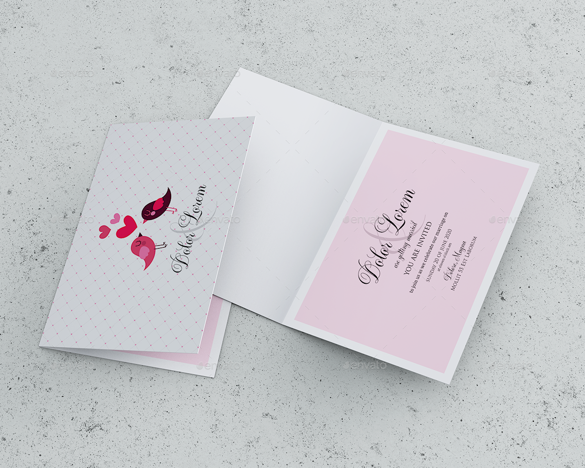 Invitation greeting card mockup by goner graphicriver