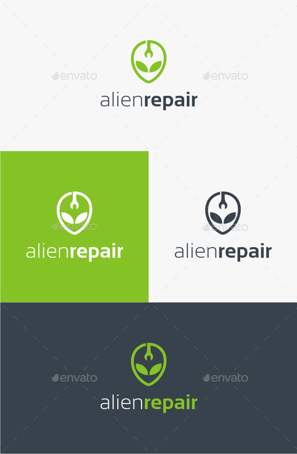 Alien Repair - Logo Template - Abstract Logo Templates