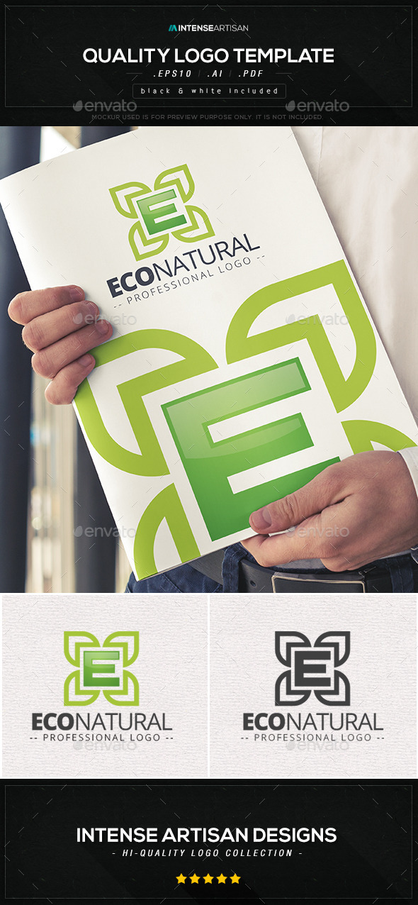 Eco Natural Logo Template - Nature Logo Templates