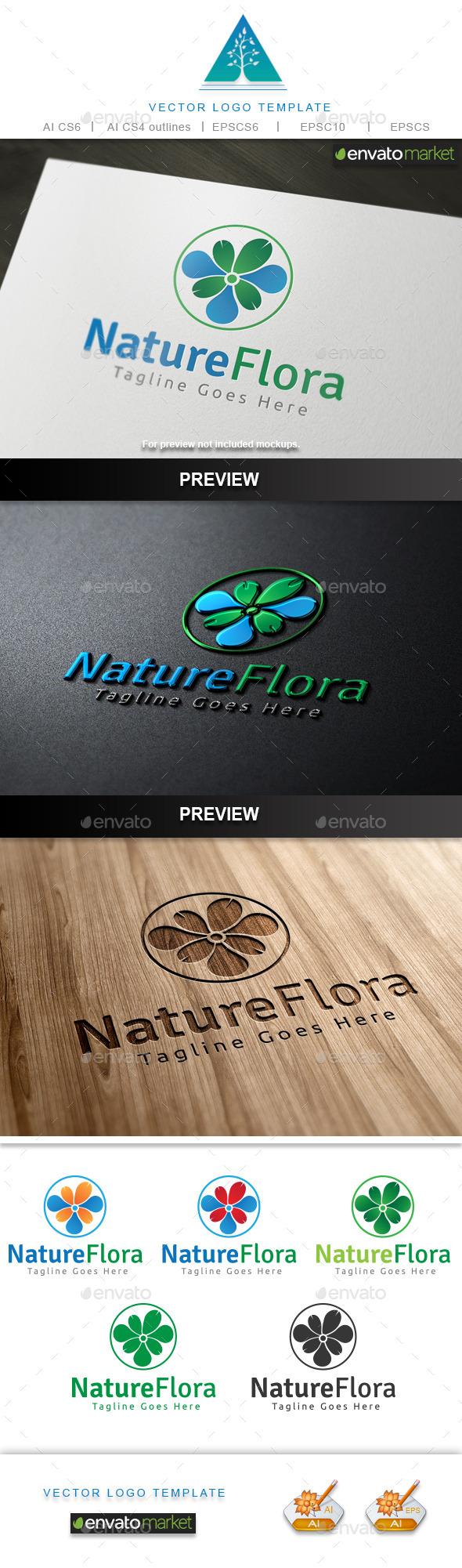 Nature Flora Logo - Nature Logo Templates