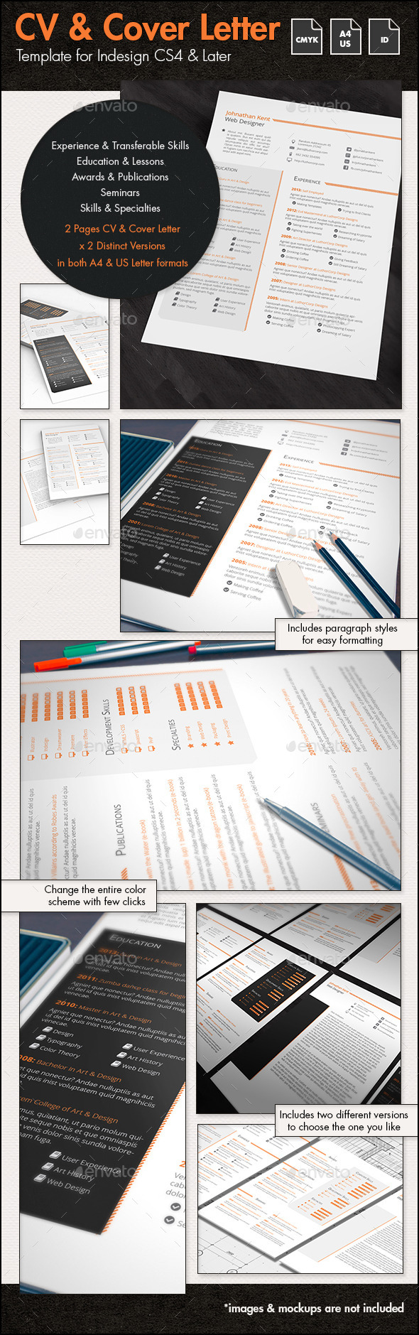 CV/Resume & Cover Letter (A4 & US Letter) by sthalassinos | GraphicRiver