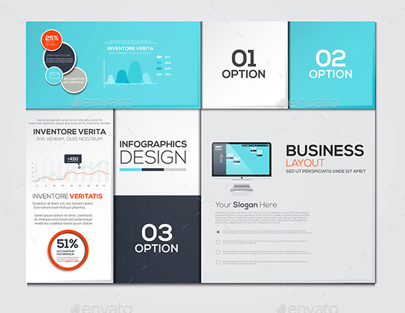 Modern Design Minimal Infographic Template - Infographics