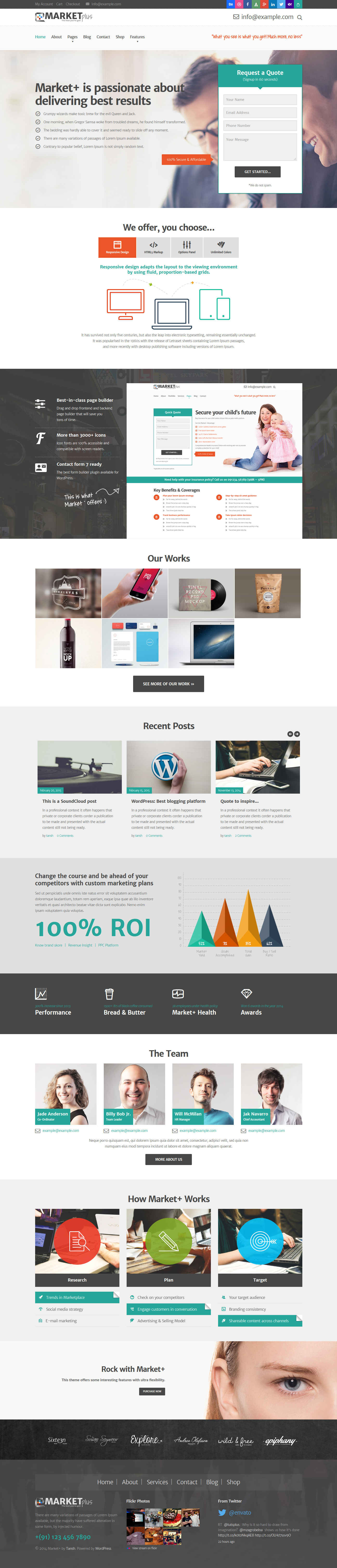 Marketplus Marketing Responsive Wordpress Theme By Tansh Themeforest