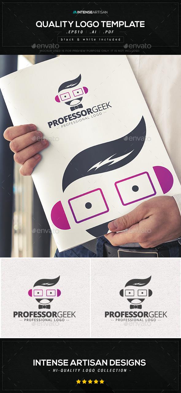 Professor Geek Logo Template - Humans Logo Templates