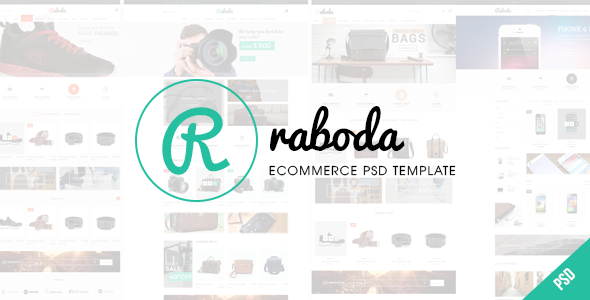 RABODA - ECommerce PSD Template - Fashion Retail