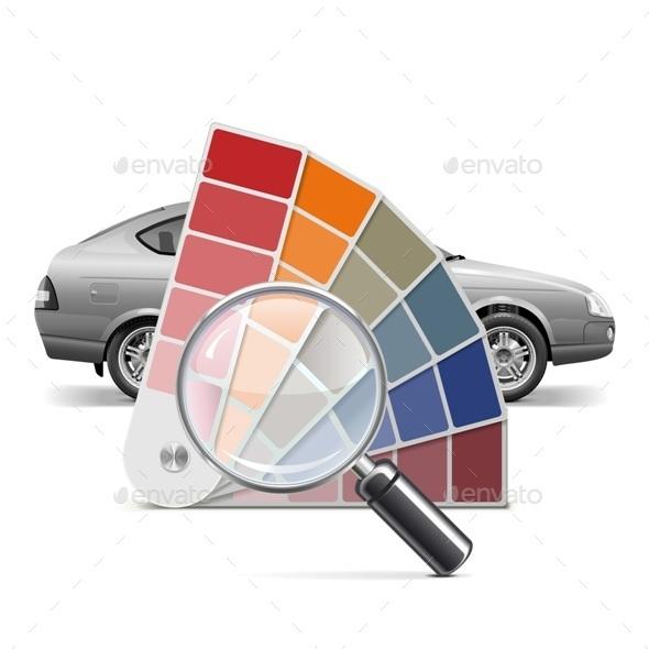 Vector Color Palette for Car - Industries Business