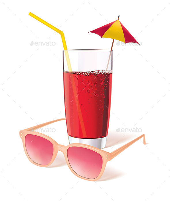 Glass with Juice - Food Objects