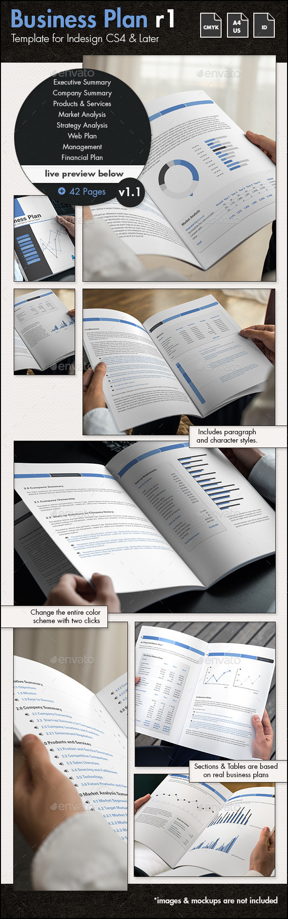Pages Business Plan Template By Sthalassinos GraphicRiver - Pages business plan template