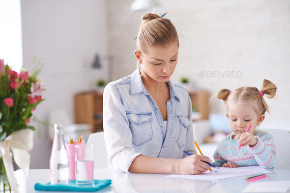 Drawing together - Stock Photo - Images