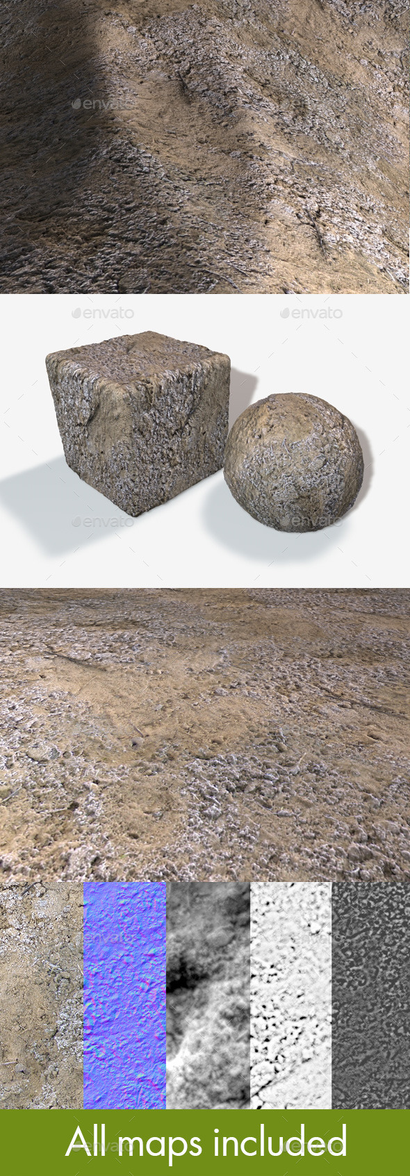 Seamless Frosty Sand Texture - 3DOcean Item for Sale
