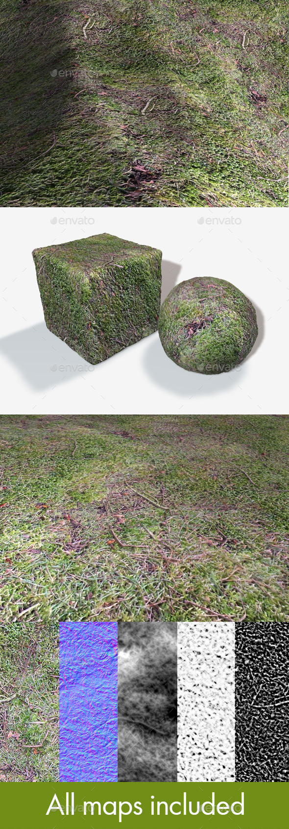 Seamless Moss Texture - 3DOcean Item for Sale