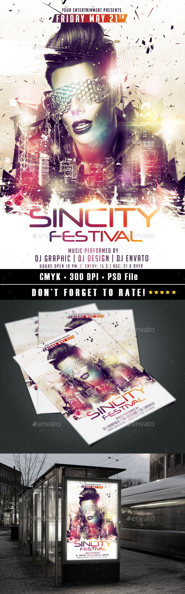 Sincity Festival - Events Flyers