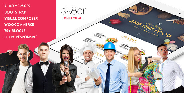 Sk8er – iOS8 Inspired Multi-Purpose Parallax Theme