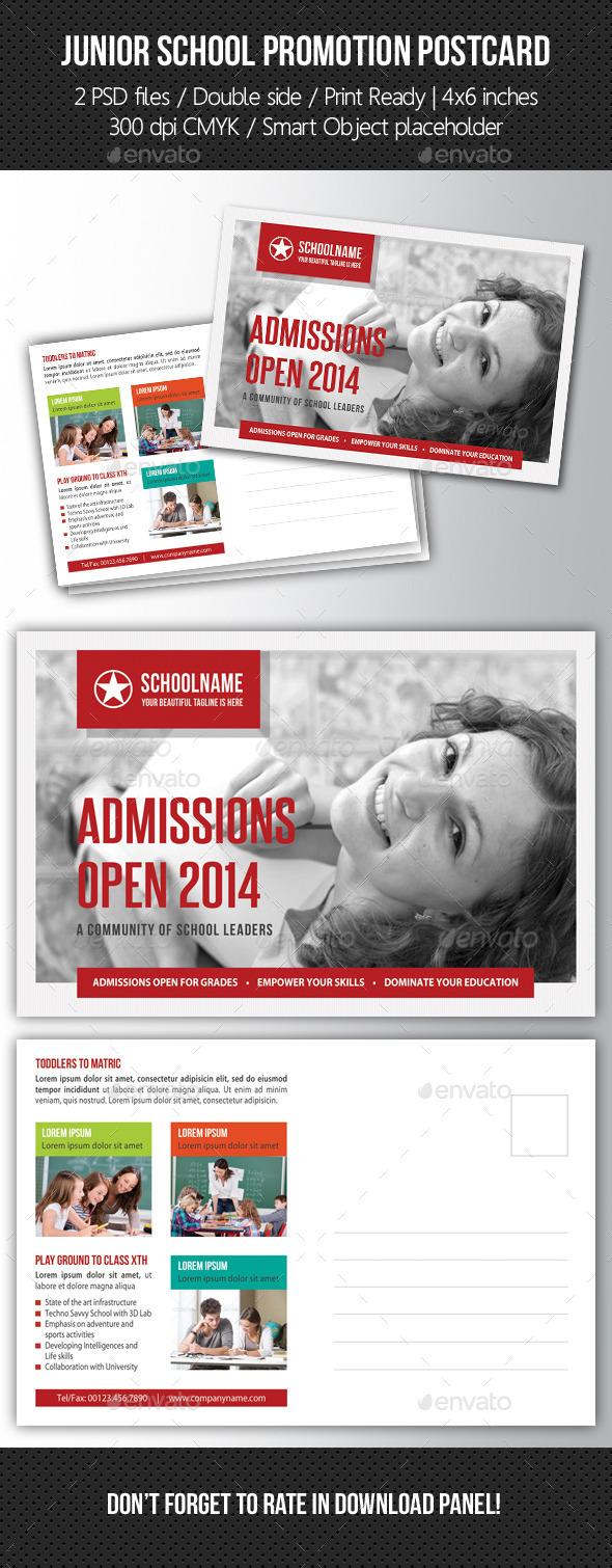 Junior School Promotion Postcard 02 - Cards & Invites Print Templates