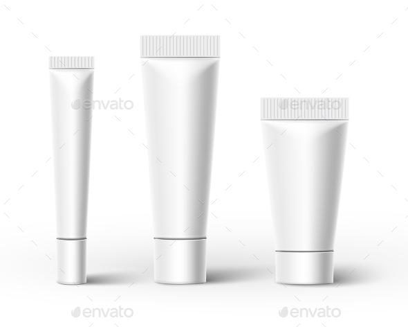 Plastic Tubes. Vector - Objects Vectors