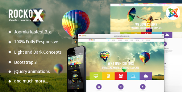 Image of RockoX - One Page Parallax Joomla Virtuemart Template