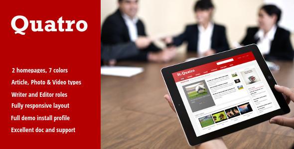Quatro – News & Magazine Drupal 8 Theme