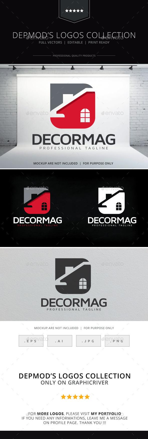 Decormag Logo - Buildings Logo Templates