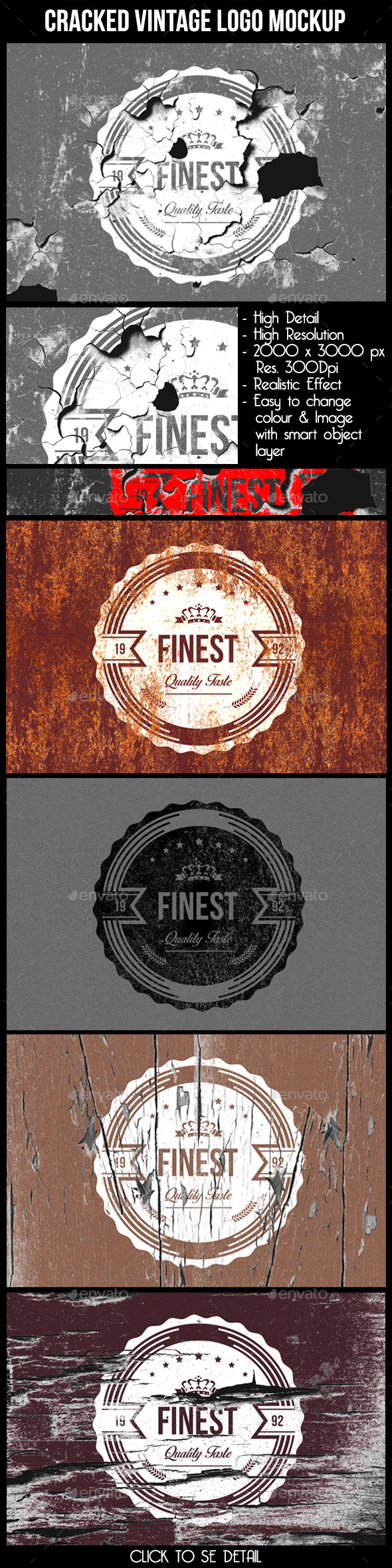 Cracked Vintage Logo Mock Up - Logo Product Mock-Ups