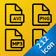 224 Simple file types icons - GraphicRiver Item for Sale