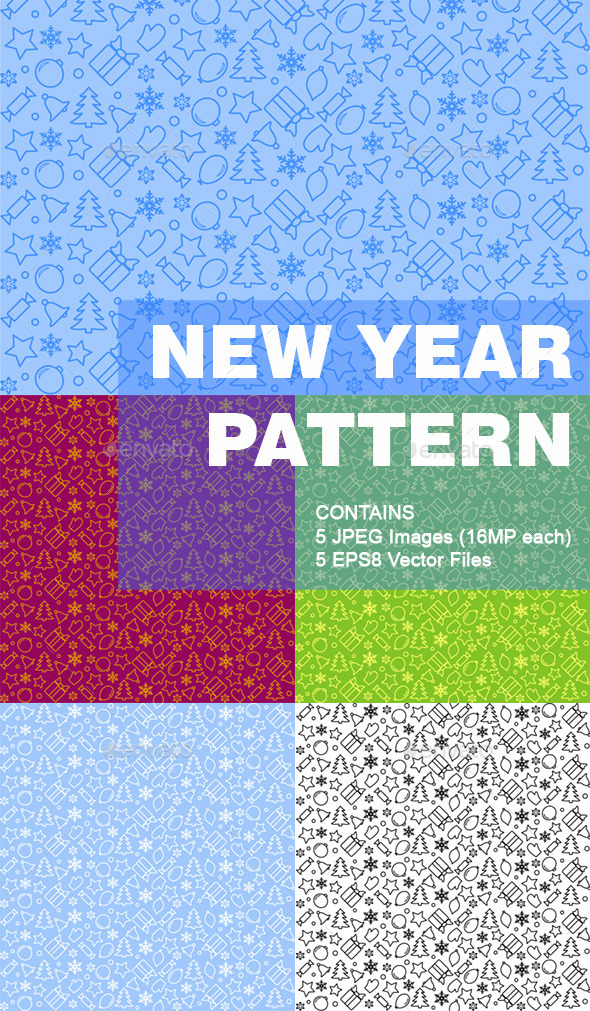 New Year Pattern Background - Patterns Decorative