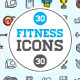 Great 30+30 Vector Fitness/Gym Icons Set - GraphicRiver Item for Sale