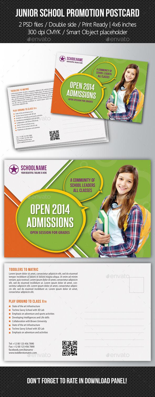 Junior School Promotion Postcard 04 - Cards & Invites Print Templates