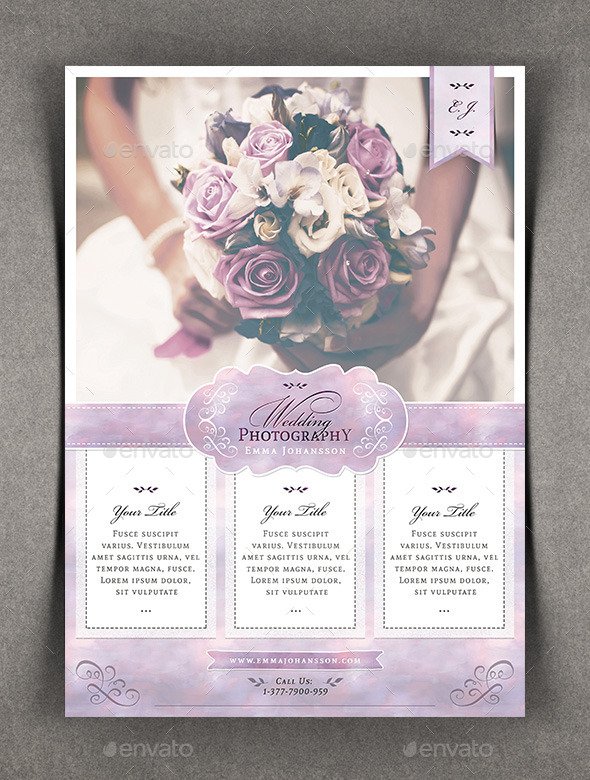 Watercolor Wedding Photography Flyer By Agape_Z | Graphicriver