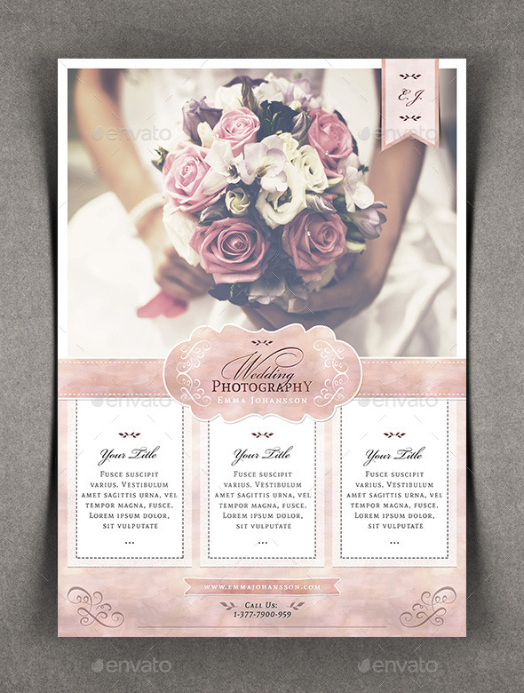 Watercolor Wedding Photography Flyer By AgapeZ  Graphicriver