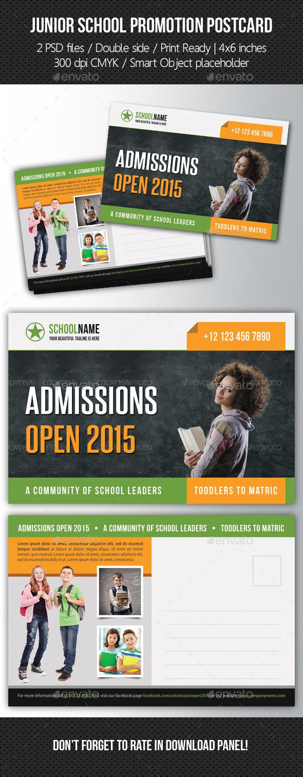 Junior School Promotion Postcard 05 - Cards & Invites Print Templates