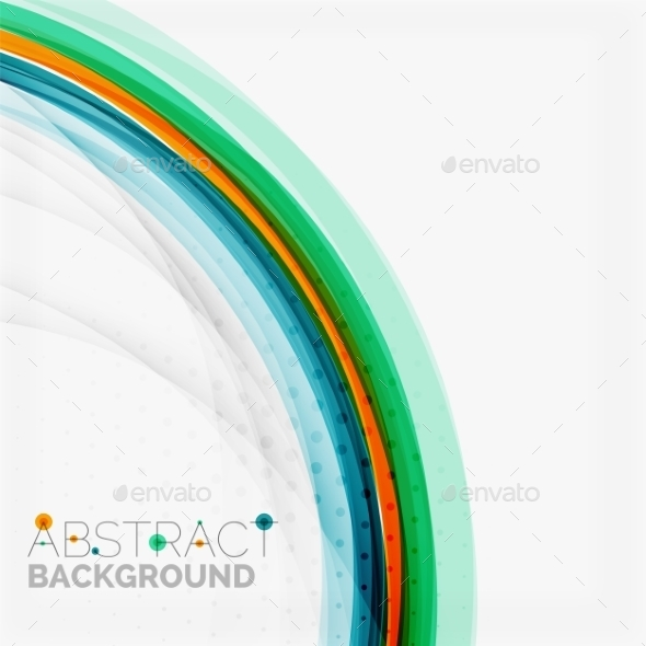 Abstract Blue and Orange Color Line Background - Abstract Conceptual