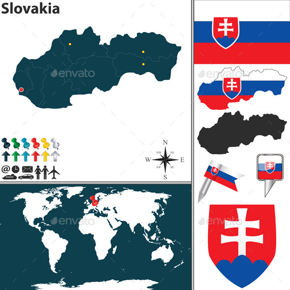 Map of Slovakia - Travel Conceptual