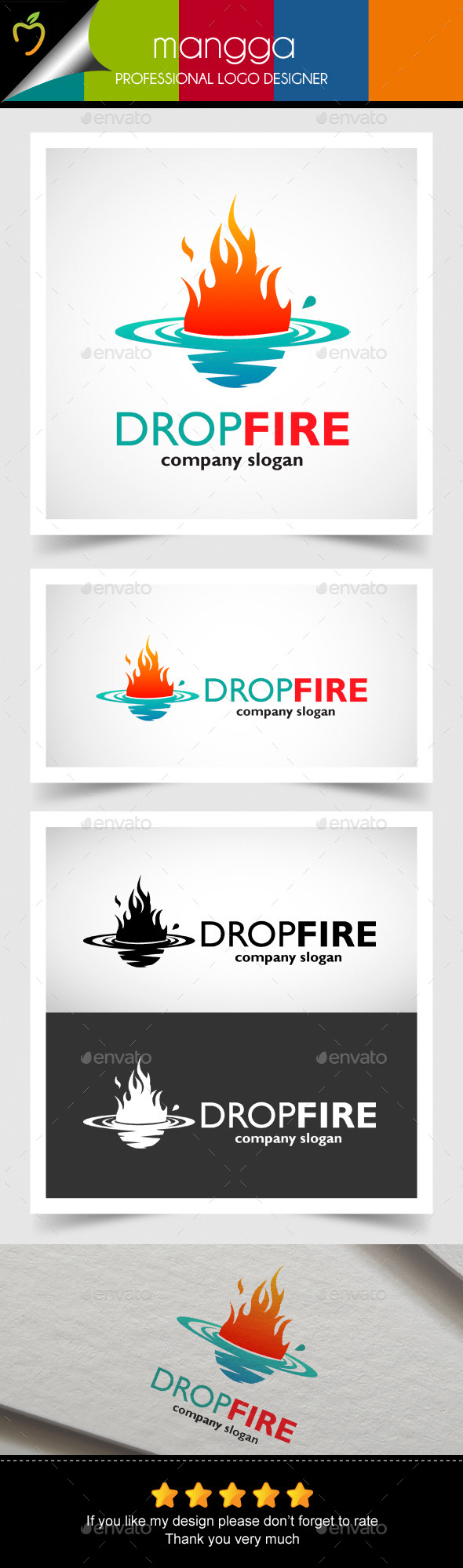 Drop Fire - Objects Logo Templates